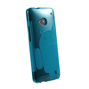 HTC One Case, Cruzerlite Androidified A2 TPU Case Compatible for HTC One (M7) - Teal