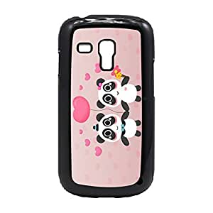 Case Fun Case Fun Pandas in Love Snap-on Hard Back Case Cover for Samsung GalaxyS3 Mini (I8190)