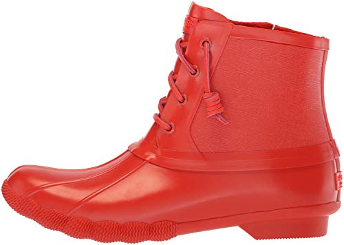 Saltwater Boot sider Red Sperry Women's Rubber Flooded Top Rain aRwzFWt