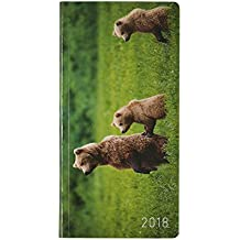 Hobonichi Techo Weeks - Michio Hoshino: Grizzly Mother and Cubs (Japanese/Wallet-Size/Jan Start)