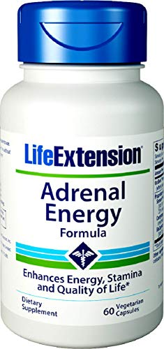 Life Extension Adrenal Energy Formula, 60 Vegetarian Capsules ()