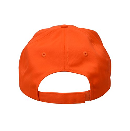 Review KC Caps Men Orange Blaze Hunting Cap Low Profile Adjustable Baseball Hat with Velcro Closure