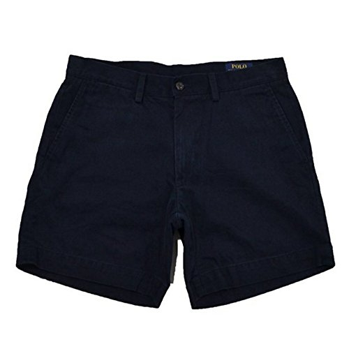 Shorts Polo Chino (Polo Ralph Lauren Mens 6 in Flat Front Chino Short (Aviator Navy, 30))