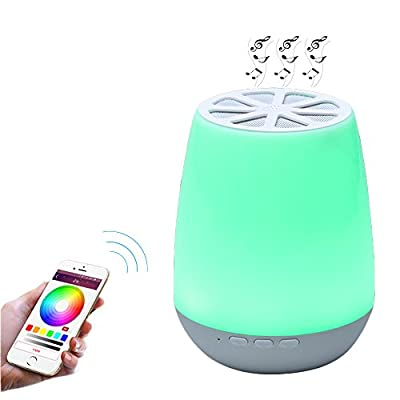 8Sanlione Smart App Control Wireless Bluetooth Speaker Colorful Touch LED Night Shiny