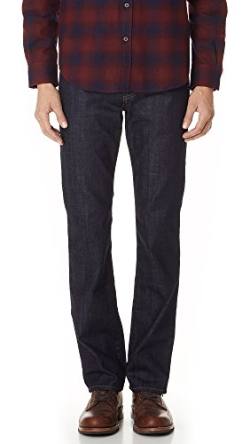 7 For All Mankind Men's Carsen Straight-Leg Jean in Dark and Clean, Dark And Clean, 38x34