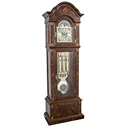 Hermle 01244031171 Gabriella Tuibular Grandfather Clock - Walnut