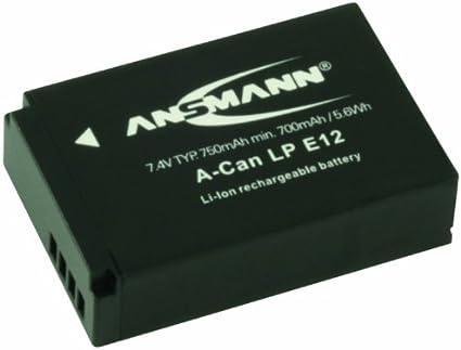 ANSMANN 5044843 A-Can NB8L Li-Ion Digicam Akku 3,7V//750mAh f/ür Canon Foto Digitalkamera