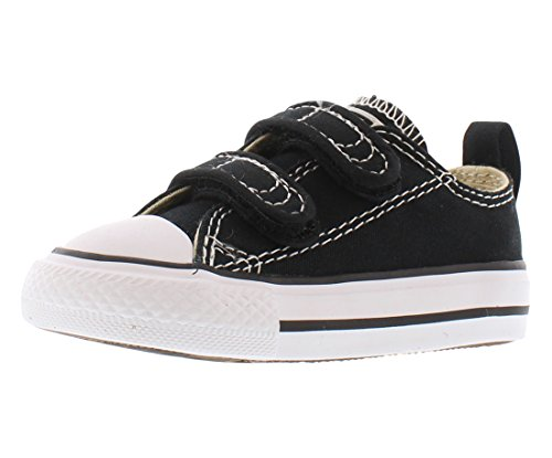 Converse Boys' Chuck Taylor All Star 2V Low Top Sneaker black 10 M US Toddler -