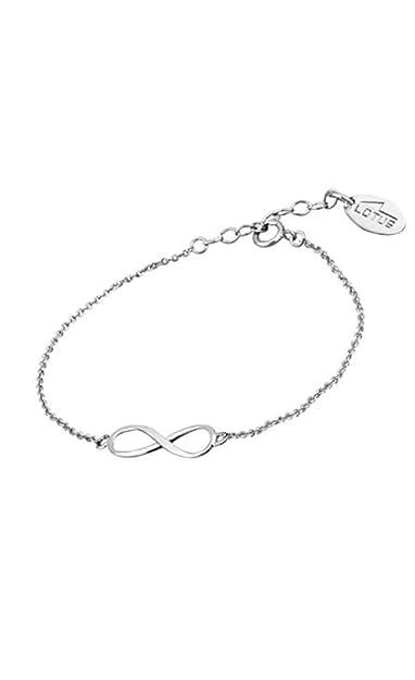 Lotus Silver - Pulsera de plata infinito - LP1224-2/2: Amazon.es: Joyería