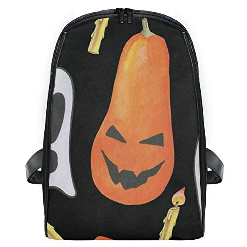 Kid's Backpack Painting Halloween Ghost Pumpkin Personalized Shoulders Bag Classic Lightweight Daypack for Girls/Boys