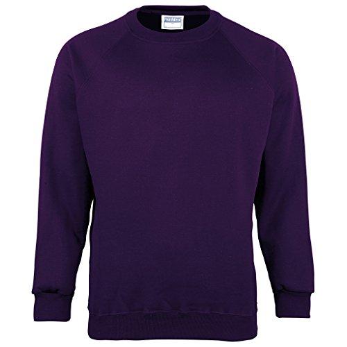 Homme Sweat Makz shirt Manches Violet Longues IYqav