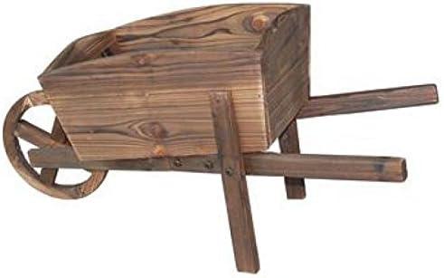 Mini carretilla de madera de jardín, apta para plantas crasas y plantas de pequeñas dimensiones.: Amazon.es: Jardín