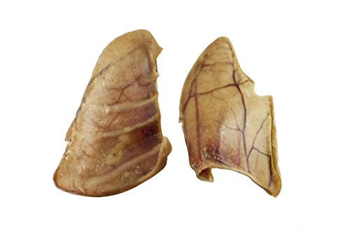 Pig Ears for Dogs   Quality Dog Chews by 123 Treats   100% Natural Pork Ears Full of Protein for Your Pet (Canada, 100 Count) by 123 Treats