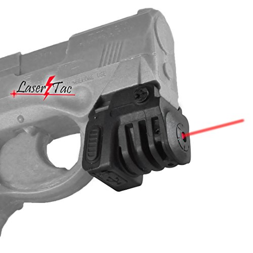 Lasertac TM-R Rechargeable RED Laser Sight for Subcompact Pistols & Compact Handguns - Fits Springfield XD XD-S XDM S&W M&P Beretta PX-4 Taurus Millenium Walther PPQ PPS PPX PK380 Ruger SR9C