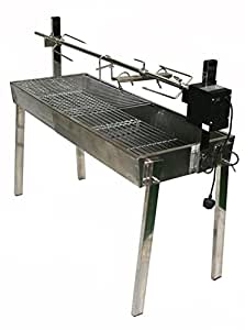 Stainless Steel Extendable charcoal BBQ spit Rotisserie Hog Roast