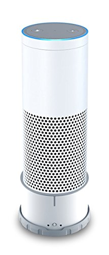 Portable Battery Base for Echo (Use Echo anywhere) - New Version (White)