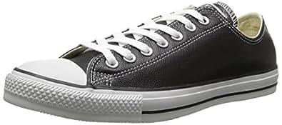 Converse Men's Chuck Taylor Leather Low Top Sneaker Black 7 M