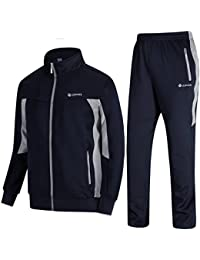outlet store 8a238 d5d6d Men s Tracksuit Athletic Sports Casual Full Zip Sweatsuit