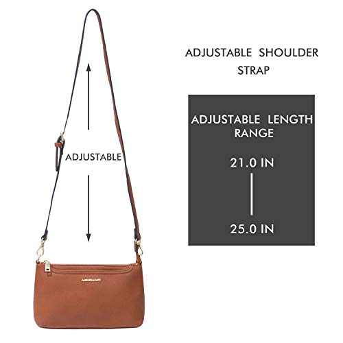 Small Shoulder Bags Zip Crossbody Bags Satchel for Women Purse by AMELIE GALANTI (Image #7)