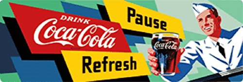 Coke Soda Jerk Tin Sign