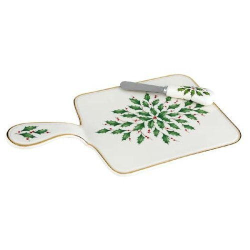 Lenox Holiday Cheese Board w/ Spreaders by Lenox