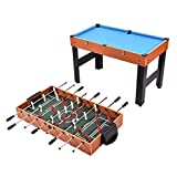 KCHEX>>>48'' 3-In-1 Multi Combo Game Table Foosball Soccer Billiards Pool Hockey For Kids>The Three-In-One Multi-Game Table (48'') Makes A Fun And Versatile Addition To Your Home's Game Room. It Include