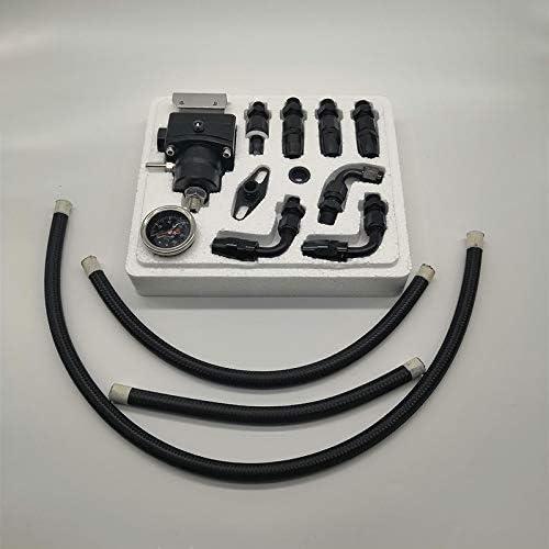 Andifany Regolatore di Pressione Carburante Regolabile Universale Kit Regolatore Pressione Olio 6 Raccordo Lato Nero