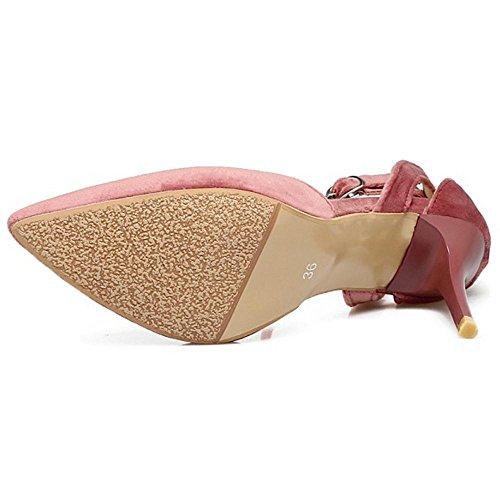 Coolcept Women Fashion Heels Pumps Shoes Straps Pink QXCPOfF