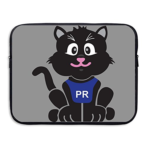 Custom Funny Parker PR Road Cat Water-resistant Laptop Zipper Bag Case 15 Inch