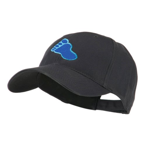 e4Hats.com Bigfoot Track Mascot Embroidery Cap - Navy OSFM