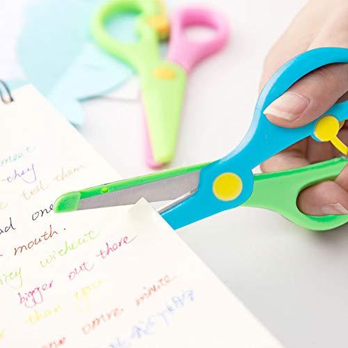 LovesTown Preschool Training Scissors,6 Pcs Dual-Colour Children Safety Scissors Pre-School Training Scissors Safety Scissors Art Craft Scissors