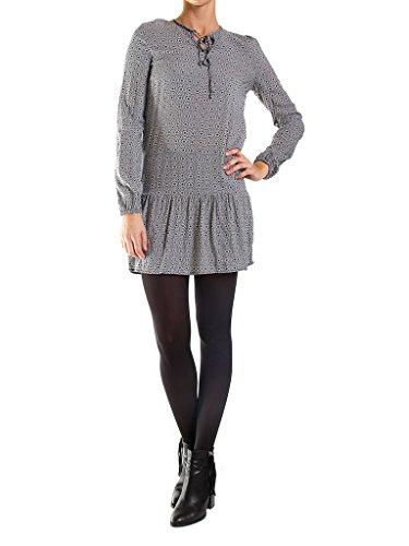 frau Jeans Carrera für Geometrisch tunika Kleid form regular langarm Z09 492 Fantasie fit FRIIdqxnw