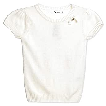Mywords Cream Round Neck Hoodie & Sweatshirt For Girls
