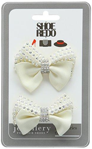 Shoellery Unisex-Erwachsene Shoe Clip Elegance Babys blanc (Cream)