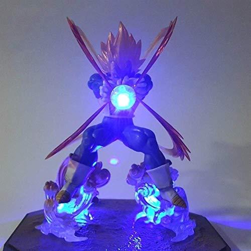 Vegeta Led Light Super Saiyan DBZ+Light DIY Dragon Ball Z Action Figure