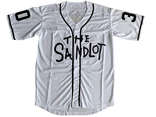 Benny 'The Jet' Rodriguez 30 The Sandlot Legends #23 Bel Air Short Sleeve 3D Print Fashion Baseball Jersey (30 White, X-Large)