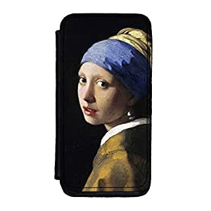 Girl with a Pearl Earring by Johannes Vermeer Premium Faux PU Leather Case, Protective Hard Cover Flip Case for iPhone 5C by Painting Masterpieces