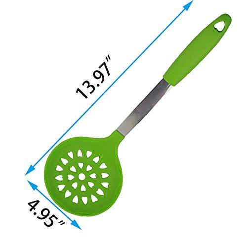 Kuke Silicone Kitchen Utensil Cooking Tools (Green- 6 pcs sets)