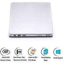 TOPCHU External DVD Drive USB 3.0, Portable CD Player burner,Super Speed External DVD Recorder Writer Rewriter for Win10, Apple Macbook, Notebook ,Laptops, Desktop