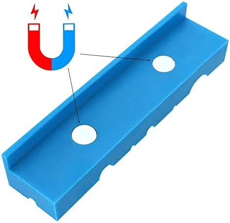 un known 140mm Vise Jaws Multipurpose Magnetic Reversible Vise Soft Jaw Pads for Metal Vise Table Vise Accessory Electronic Accessories