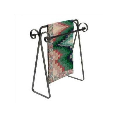 Enclume Premier Scrolled Quilt Rack, Hammered Steel by Enclume