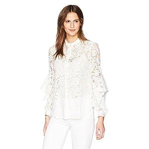 BCBGMAXAZRIA Women's Thelma Lace Shirt Blouse