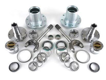 Dynatrac CR60-3X1104-B Free Spin Hub Conversion Kit w/Warn Hubs - Stage 1 Fits: 1994-1999 Dodge Ram 2500/3500
