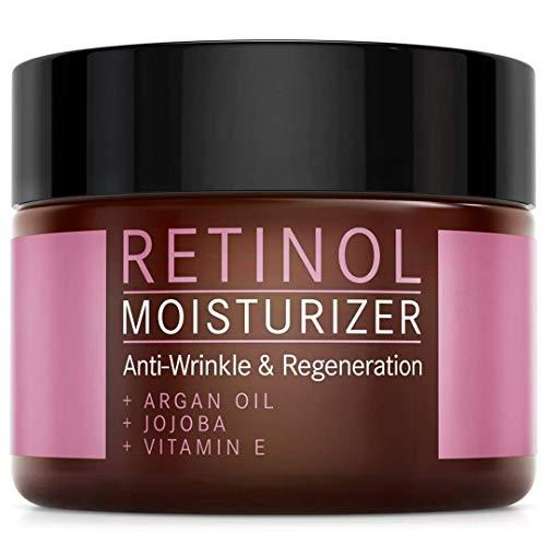 Creme Facial Antiarrugas con Retinol PURO para Hombre y Mujer - VEGAN - 2,5% Retinol Formula Anti-Rughe con Vitamina E y Aceite de Argan - 50ml de Crema Hidratante para la Cara - MADE IN GERMANY