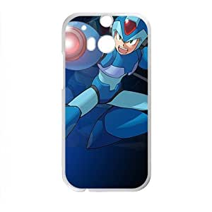 DAZHAHUI Blue cool Rockman Cell Phone Case for HTC One M8