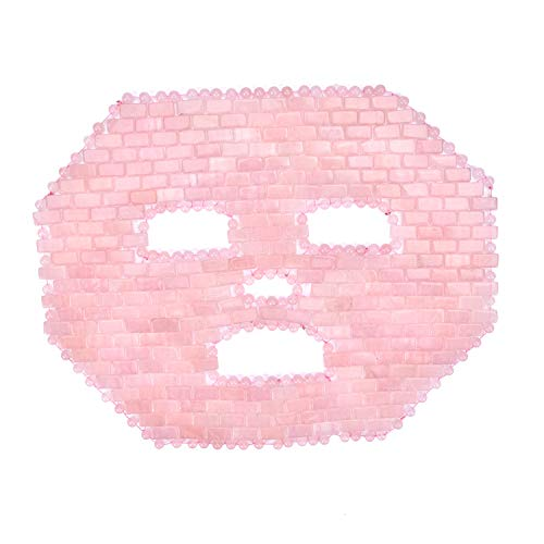 ideayard Jade Facial Mask|100% All Natural Jade Sleep Mask|Diminish Puffiness|Soothe Eye Fatigue|Pink Rose Quartz