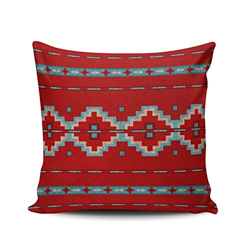 (MUKPU Fashion Home Decoration Design Throw Pillow Case Aqua Mint and Turquoise Southwest Mesas Red 20X20 Inch Square Custom Pillowcase Cushion Cover Double Sided Printed (Set of 1))