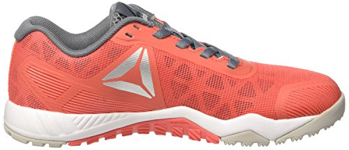 Reebok Ros Workout TR 2.0, Sneaker Basses Femme Rouge (Fire Coral/Skull Grey/Asteroid Dust/Pure Silver)