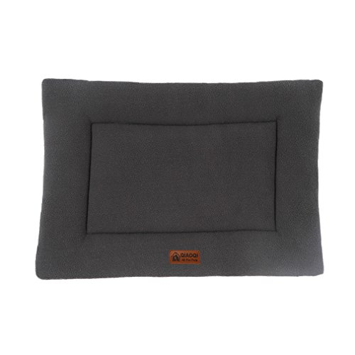 QIAOQI Kennel Bed Cushion Mat Summer Crate Mattress for Dogs or Cats Small Grey