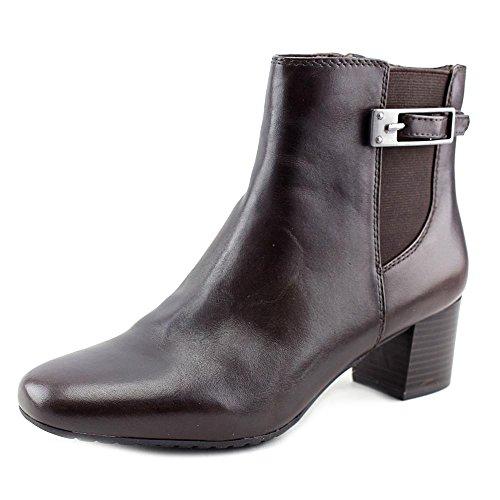 Bandolino Women's Lethia Boot, Dark Brown, 6.5 M US (Heels Bandolino Leather)